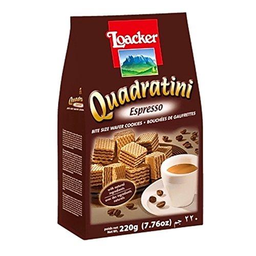 Waffeln Quadratini Espresso 220 gr. - Loacker