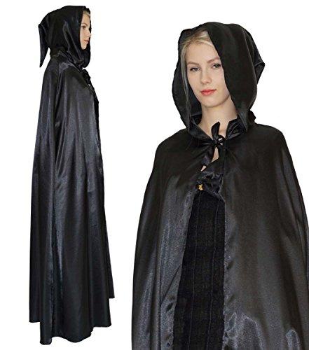 Maylynn 15235 - Cape médiévale pour femme - style vampire/sorcière - noir