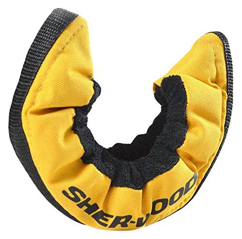 SHER-WOOD Junior Pro elastische Kufenstrümpfe für Kinder Eishockey-& Schlittschuhe, 2 Stück, gelb, One Size