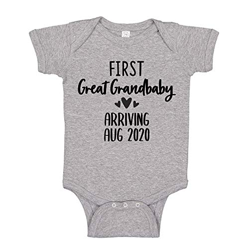 First Great Grandbaby Baby Announcement Bodysuit Shirt NB Athletic Heather