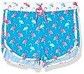 Hatley Girls' Swim Shorts, Fancy Flamingos, 4 Years