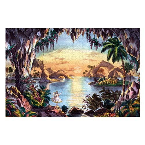 The Fairy Grotto Puzzles for Adults, 1000 Piece Kids Jigsaw Puzzles Game Toys Gift for Children Boys and Girls, 20