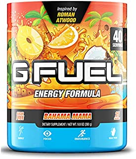G Fuel Bahama Mama Tub (40 Servings) Elite Energy and Endurance Formula 9.8 oz. Inspired by Roman Atwood