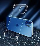 STSKing für iPhone 12 Pro Max Hülle, Superdünn rahmenlose Transparent Hülle Rückwand PC-Stoßdämpfung TPU Stoßstange Hülle für iPhone 2021 6,7 Zoll (Transparent, 12pro Max)
