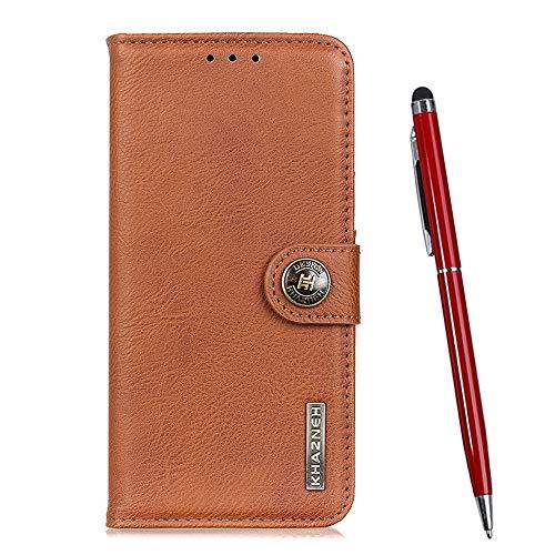 TOUCASA für LG G7 Fit / Q9 Hülle, Handyhülle Brieftasche PU Leder Flip [Rindsleder Textur] Hülle Magnetverschluss Handytasche Klapphülle Hülle für LG G7 Fit / Q9 (Braun)