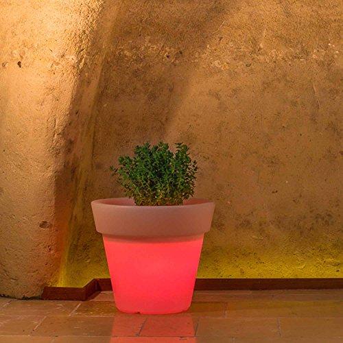 Gemma Bright, lumière Rouge, Ø 110 cm, Hauteur 95 cm.