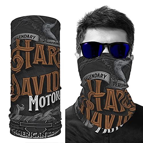 Maschera sportiva rinfrescante di seta ghiaccio bandana Harley Davidson traspirante riutilizzabile elastico passamontagna escursioni all'aperto equitazione per uomini donne