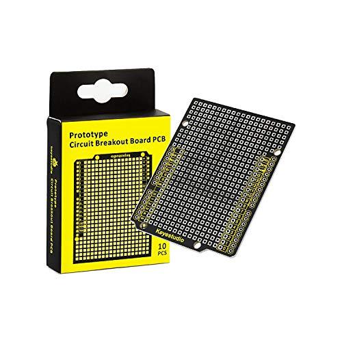 KEYESTUDIO 10個 プロトタイプ プリント 回路基板 ブレイクアウトPCBボード シールド キット for Arduino UNO R3 アルディーノ ブレッドボード セット 電子工作 実験ツール