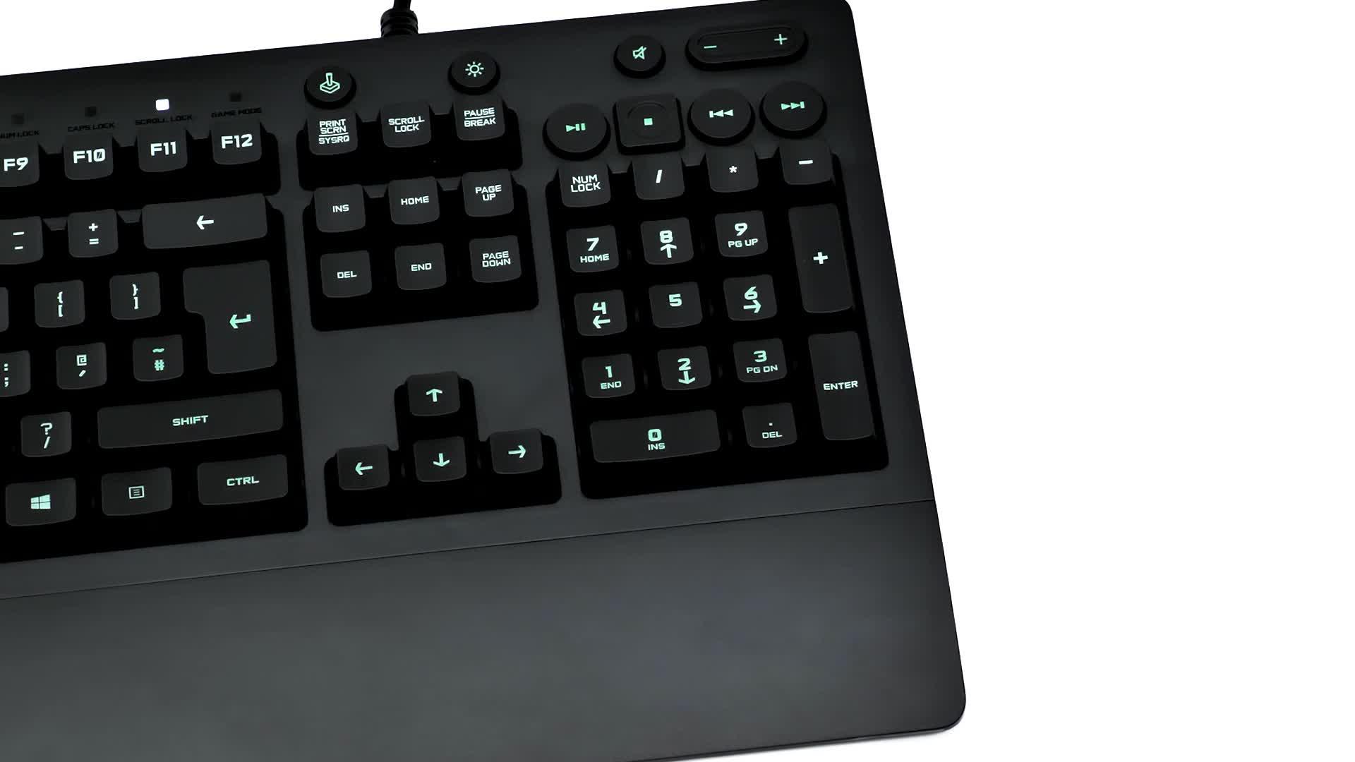 Logitech G213 Prodigy Teclado Gaming, Retroiluminación RGB LIGHTSYNC, Resistente a Salpicaduras, Personalizable, Controles Multimedia, Disposición ...