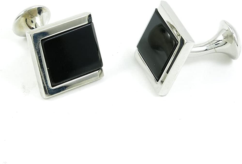 Cufflinks Cuff Links Fashion Mens Boys Jewelry Wedding Party Favors Gift RMZ091 Black Square Stone