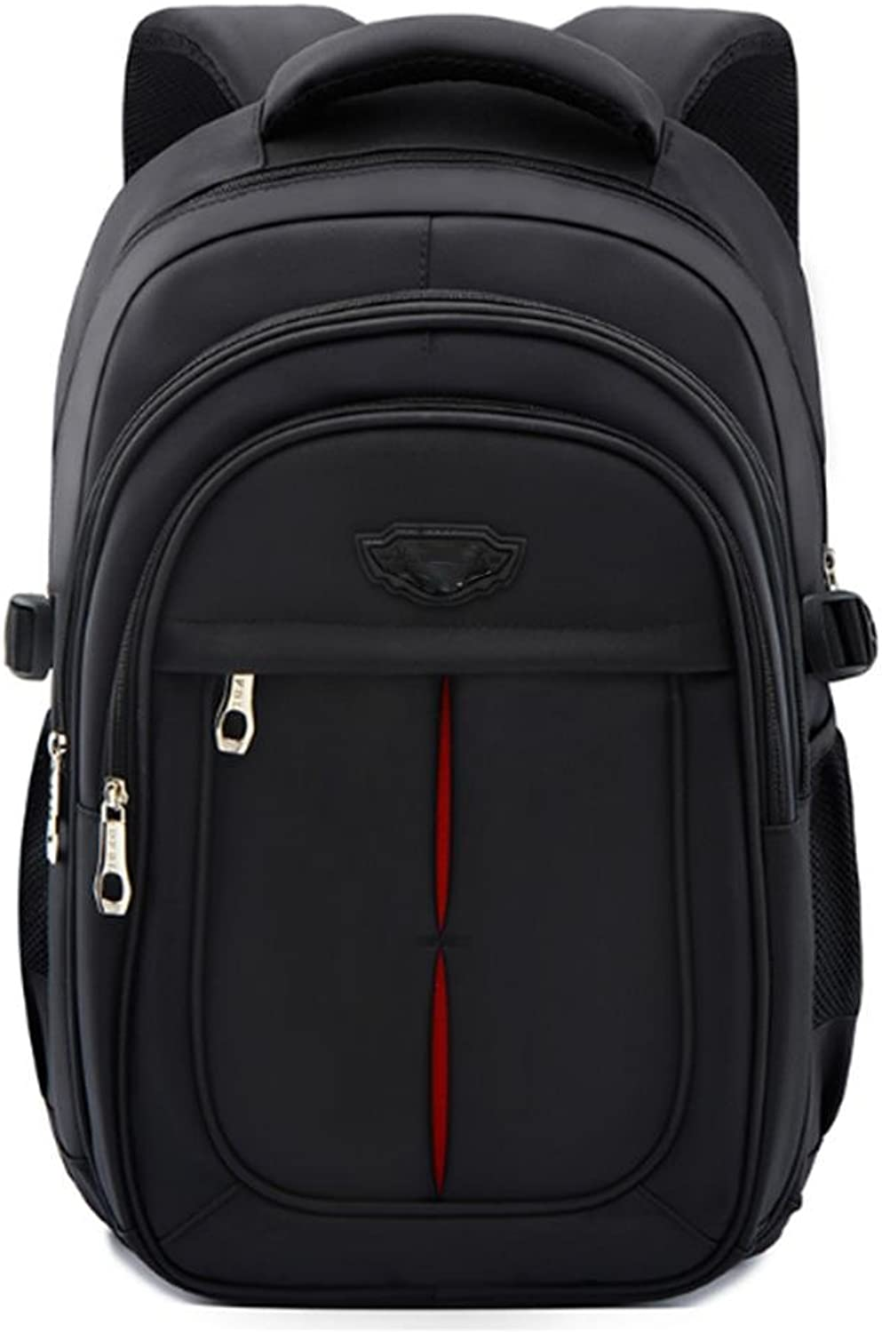 QPYC Student Backpack 16 Inch Computer Notebook Waterproof Travel Leisure Business Package Black
