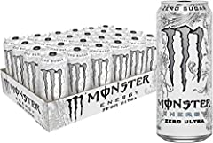 FULL FLAVOR, ZERO SUGAR: Zero Ultra has 10 calories and zero sugar, but with all the flavor you're accustomed to and packed with our sugar-free Monster Energy blend. REFRESHING TASTE: Zero Ultra's lighter tasting flavor profile is a less sweet, spark...