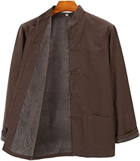 Winter Tang Suit Pure Cotton Plus Velvet, Men Kung Fu Uniform Tai Chi Uniform Long Sleeve Chinese Traditional Clothes Top...