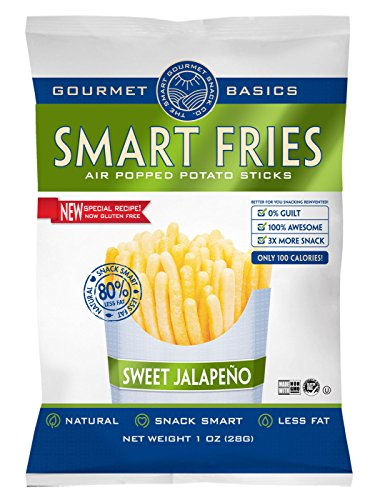 Gourmet Basics Smart Fries Sweet Jalapeno, 1-Ounce Bags (Pack of 24)