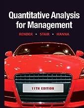 Quantitative Analysis for Management (11th Edition)...