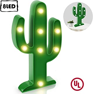 Koicaxy Cactus Light,LED Cactus Lamp Up Decor for Kids Bedroom Living Room Wall Party Holiday Green