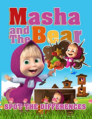 Masha And The Bear Spot The Difference: Relaxation Masha And The Bear Activity How Many Differences Books For Adults And Kids
