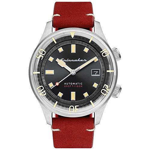 SPINNAKER Bradner Herren-Armbanduhr 42mm Armband Leder Automatik SP-5062-01
