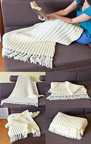 Knit Throw Blanket Pattern Knit Wrap Newborn Blanket Newborn Wrap Baby Wrap Winter Blanket Cable Knit Throw Afghan Pattern Chunky Knit Blanket Baby Blanket Pattern Warm Blanket Tassel Blanket Pattern Kindle