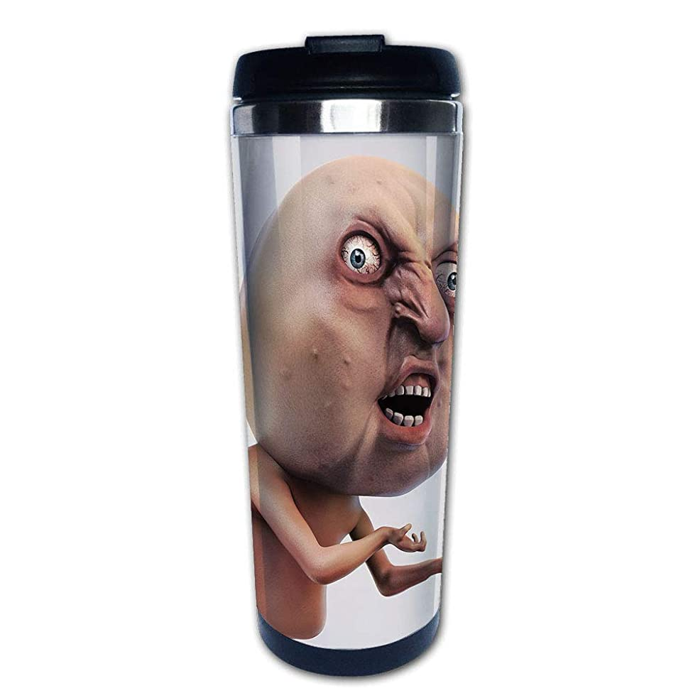 Stainless Steel Insulated Coffee Travel Mug,Why You No Expression Angry Trolling Chat Digital,Spill Proof Flip Lid Insulated Coffee cup Keeps Hot or Cold 13.6oz(400 ml) Customizable printing