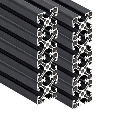 PremiumX 8 Stück 2000mm Aluminium Profil Aluprofil 40x40 mm Nut 8 Strebenprofil Anthrazit 4040 2m Alu Konstruktionsprofil