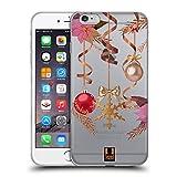 Head Case Designs Adornos Oro Navidad Carcasa de Gel de Silicona Compatible con Apple iPhone 6 Plus/iPhone 6s Plus