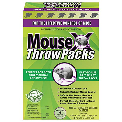 MouseX Throw Packs Bait Pellets for Mice, Pack of 6