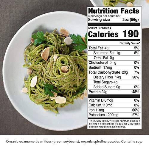 Explore Cuisine Organic Edamame & Spirulina Spaghetti - Family Pack - 2 lbs - Healthy Pasta Alternative, Gluten Free, Easy to Make - USDA Certified Organic, Vegan, Kosher, Non GMO