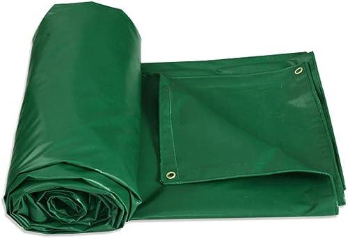 Tarpaulin Bache imperméable Double-Face, bache d'épaississement extérieure Verte avec la boutonnière en Aluminium, Parasol, bache, Isolation Thermique, imperméable, bache de Prougeection Solaire
