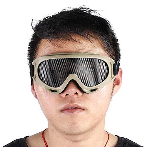 FECAMOS Gafas con Montura de PC Negra X400, para montañismo(Tan)