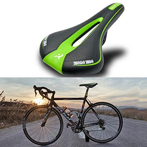 HugeAuto - Sillín de bicicleta de montaña, gel cómodo y suave para...