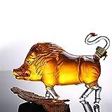 DFGDFG Novedad jabalí en Forma de Estilo casero Bar de Whisky decantador de Licor Bourbon 33.81 oz
