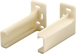 Prime-Line R 7265 Drawer Track Back Plate 3/8 in. x 1 in, Plastic, White, 1 Pair (1 LH, 1 RH)