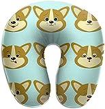 Memory Foam Nackenkissen Hund Corgi Smiley A Set Verschiedene Emotionen U-Form Reisekissen...