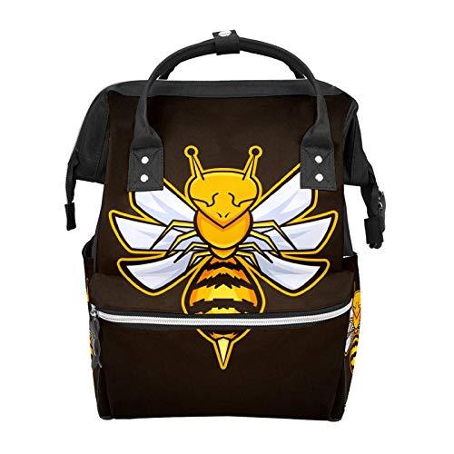 Einzigartiger Insekten-Maskottchen, Wespen-Biene, Schulrucksack, große Kapazität, Mama-Taschen, Laptop-Handtasche, lässiger Reiserucksack für Damen, Herren, Erwachsene, Teenager, Kinder