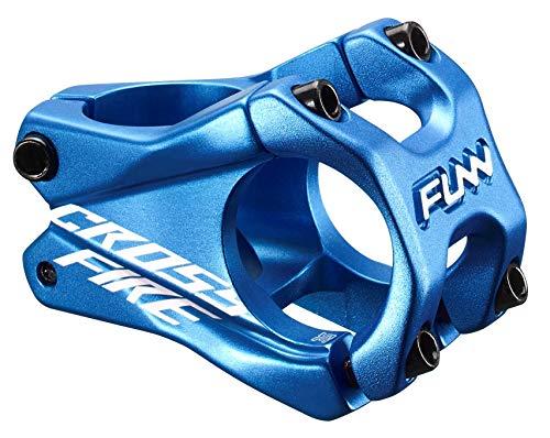 Funn Crossfire MTB Stem, Bar Clamp 35mm, Lightweight and Strong Alloy Stem for Mountain Bike (Length 50mm, Blue)