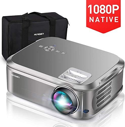 YZXZM El proyector 1080p, 3000-4000 lúmenes Full HD proyector de vídeo con 200' Visualización y corrección Keystone 4D, Cine en casa, Negocios PPT, Juegos
