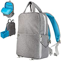 Deco Gear Photo and Video Backpack for Mirrorless and DSLR Cameras and Drones (Grey)
