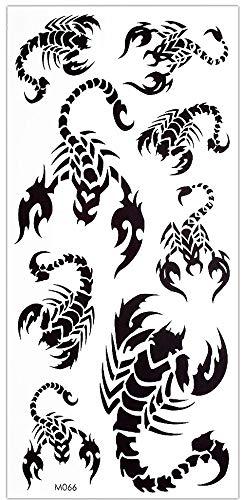 Skorpion Tattoos schwarz Fake Tattoo 8 Skorpion auf ein Bogen MTL1034 /M066