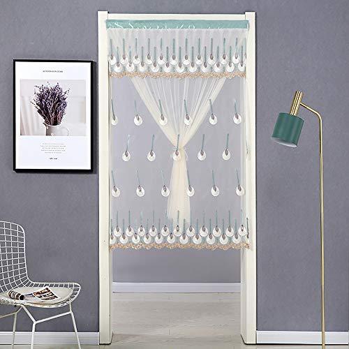 Schermdeurgaas gemaakt van hoogwaardige scheurbestendige en duurzame vliegenhordeur Hang prachtig Schermdeuren voor terrasdeuren,B,90 * 200
