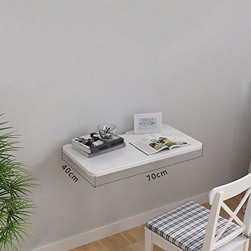 YXX Petit Bois Mural Tables Abattant avec poignée Supports en Aluminium Blanc Mural Table Pliante pour Enfants Ordinateur Workstations Salle à Manger Cuisine Bureau (Taille : 70 * 40cm)