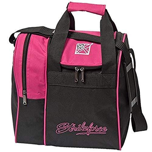 KR Strikeforce Unisex-Erwachsene Rook Single Tote Bowling Bag- Pink Bowlingtasche, Rose, Ball