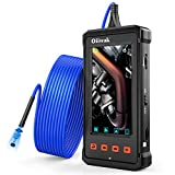 Oiiwak Industrial Endoscope 5.5mm Automotive Borescope 1080P HD 4.3inch Screen Snake Camera IP67 Waterproof Inspection Camera with 6 LED Lights, 2800mAh Battery 8GB TF Card and Tool Box(3.5m/11.5ft)