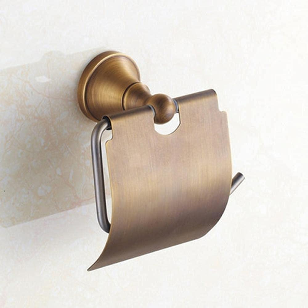 LJQJYFCToilet Roll Spasm Direct stock discount price Holder Solid Copper Antique Durable Moun Wall