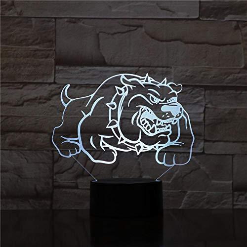 Leeypltm Hond 3D illusie lamp LED nachtlampje 7 kleuren wisselen, Touch Control, USB-oplader, als decoratieve woonkamer slaapkamer, en verjaardag cadeau