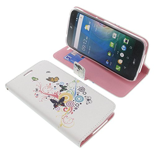 foto-kontor Tasche für Acer Liquid Z630 Liquid Z630S Liquid M630 Book Style Schmetterlinge Schutz Hülle Buch