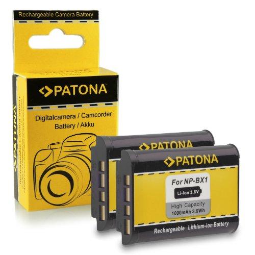 2x Batería NP-BX1 para Sony CyberShot DSC-HX50 / HX50V | DSC-HX300 | DSC-RX1 / DSC-RX1R | DSC-RX100 / DSC-RX100 II | DSC-WX300 | HDR-AS15 | HDR-GW66 | HDR-GWP88