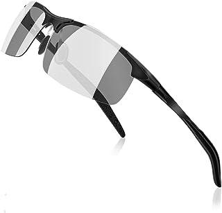 変色調光サングラス 偏光サングラス 超軽量 アルミニウム・マグネシウム合金材 紫外線感知 UV400 釣り 自転車ドライブアウトドア 登山 ゴルフ 運転 変色 調光グラス
