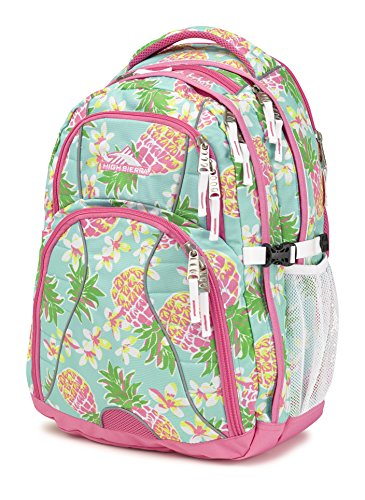 High Sierra Swerve Laptop Backpack, Pineapple Party/Pink Lemonade/White, 19 x 13 x 7.75-Inch