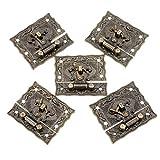 Bronce Madera 5Sets x2.9cm Tono 5,1 cm caja de la cerradura de la maleta Toggle Latch Buckles Decoración hogareña